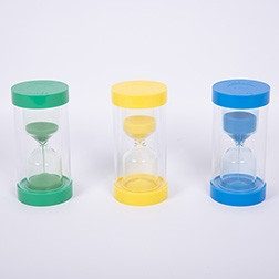 ColourBright Sand Timers - Pk3 (1, 3, 5 Minute)