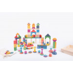 Shown with Rainbow Wooden Super Set 73979